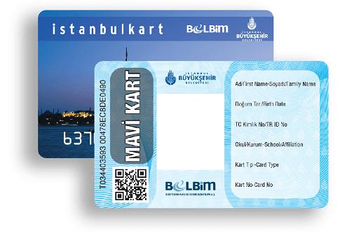 ماوی کارت، استانبول کارت